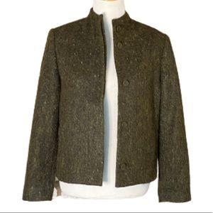 Green Wool Alpaca Mohair Tweed Blazer Country Road